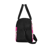 Pink Black Ballerina Dance Competition Ballet Duffel Bag