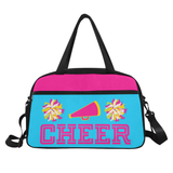 Black Cheerleader Cheer Competition Practice Duffel Bag Pink/Yellow