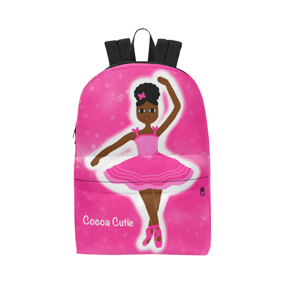 Black Ballerina Dance Competition Ballet Backpack Bag Pink
