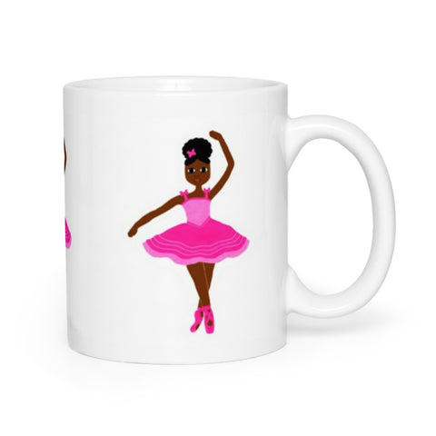 Pink Dancer in the Stars Cocoa Cutie Mug