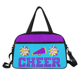 Black Cheerleader Cheer Competition Practice Duffel Bag Purple/Yellow