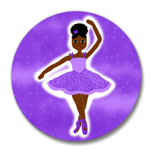 "Dancer Pin-Back Button-Dark Skin 2.25"" LARGE"