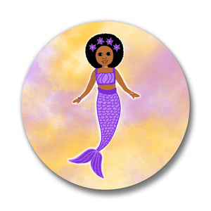 Mermaids Cocoa Cutie Bows Pin-Back Buttons(Four Designs)