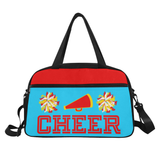 Black Cheerleader Cheer Competition Practice Duffel Bag Red/Yellow