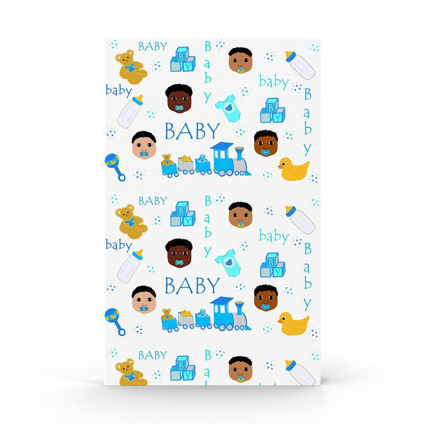 Sweet Baby Boy Gift Wrap Sheets Cocoa Cutie