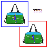 Soccer Practice Fitness Travel Bags with Separate Shoe Compartment(Two Skin Tones)-Girl