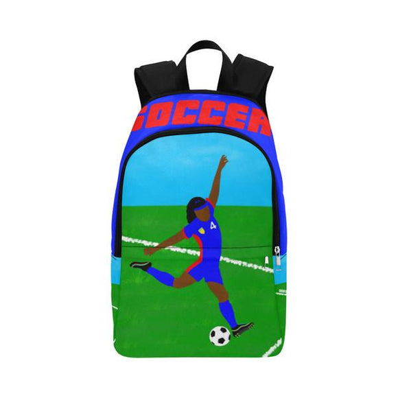 QUICK SHIP-GIRLS SOCCER CANVAS BACKPACKS