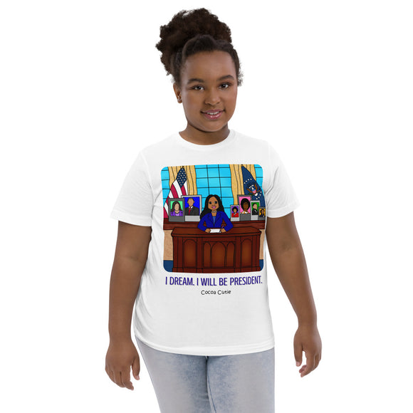 President Jordyn Cocoa Cutie I Dream. I Will. Kid's Tee (Girl)