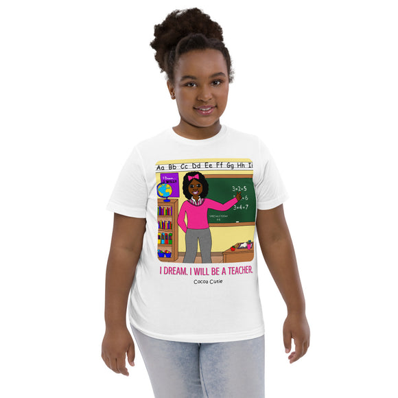 Teacher Yanna Cocoa Cutie I Dream. I Will. Kid's Tee (Girl)