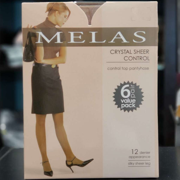Melas 12 Denier Crystal Sheer Control Top Tights- Six Pack Box Itsallagift