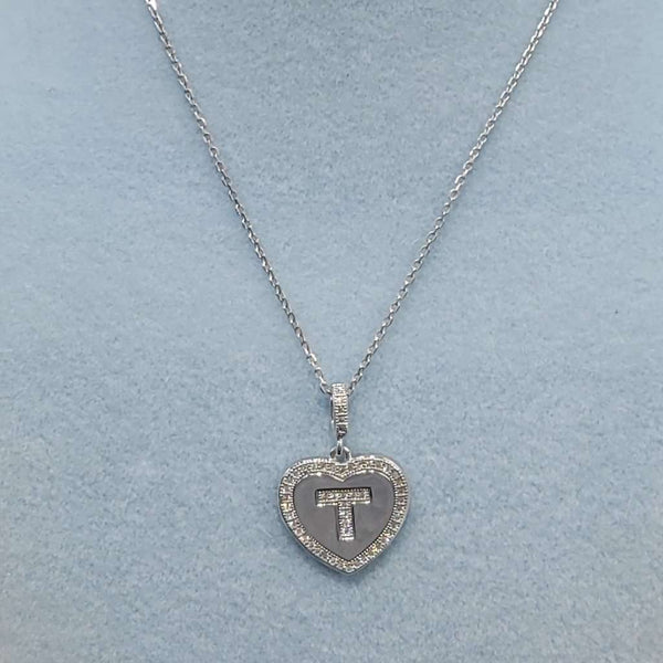 Initial Heart Necklace T Itsallagift