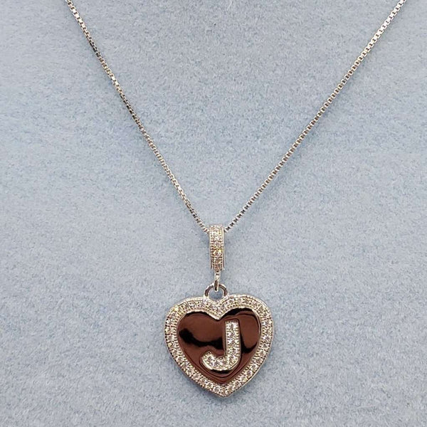 Initial Heart Necklace J Itsallagift
