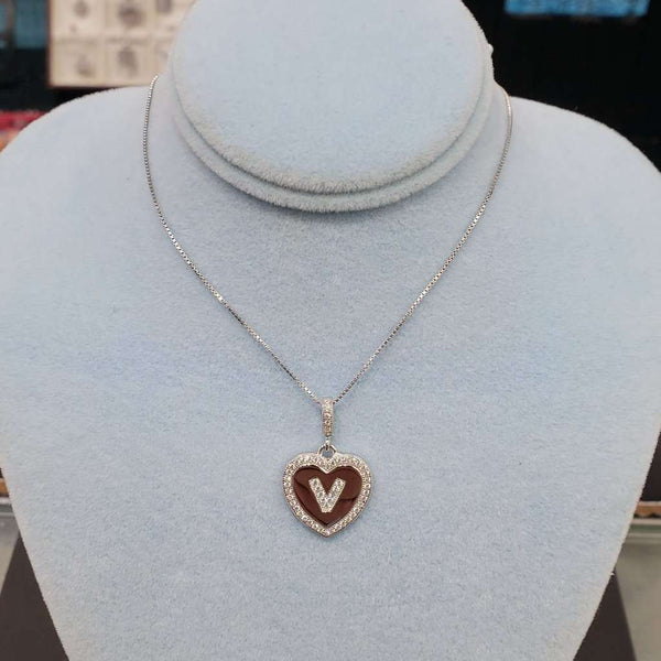 Initial Heart Necklace V Itsallagift