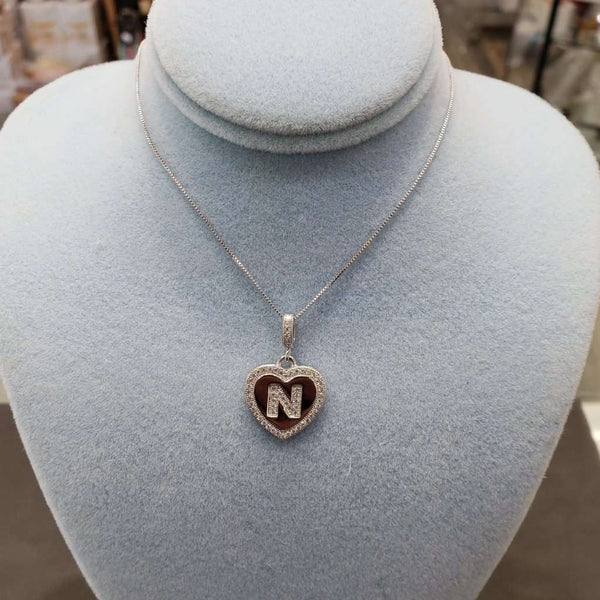 Initial Heart Necklace N Itsallagift