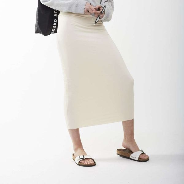 Long Midi Tube Skirt Seasonal Colors Vanilla / X-Small Itsallagift