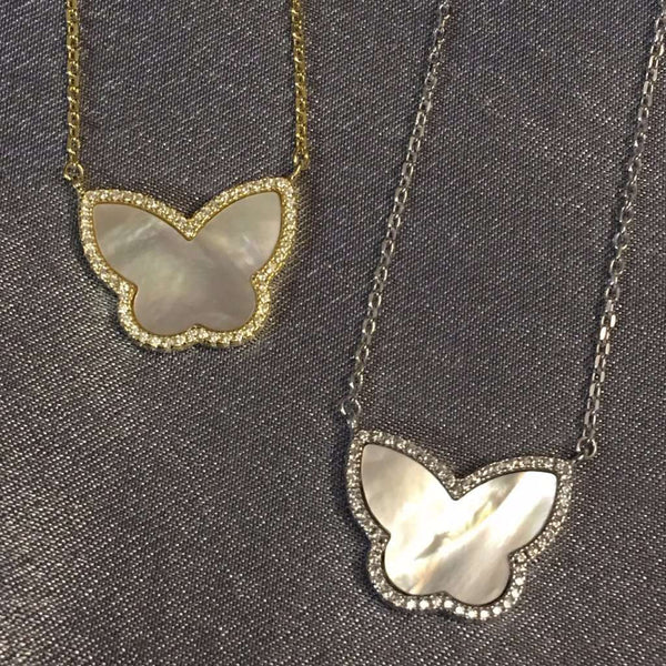 Butterfly Mother Of Pearl Necklace Itsallagift