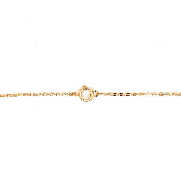 Gold Necklace With Flower Embossed Design Itsallagift