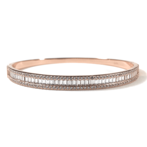Rose Gold Bracelet With CZ Baguettes And Stones Itsallagift