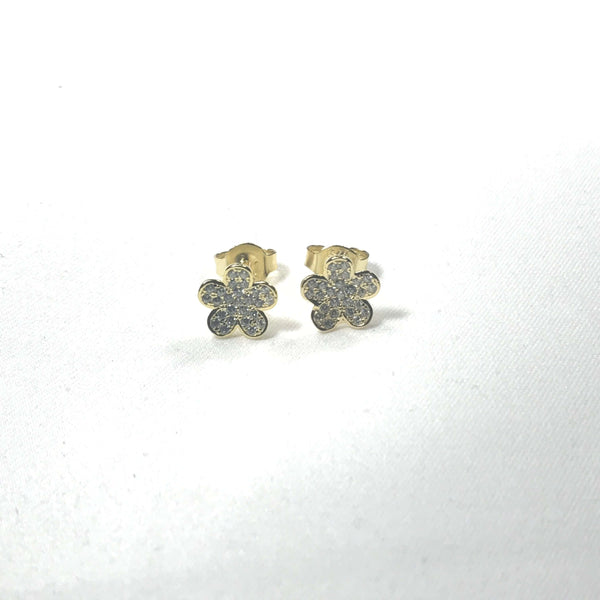 Small Pave' Flower Earrings Itsallagift