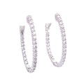 Oval CZ Hoop Earrings Itsallagift