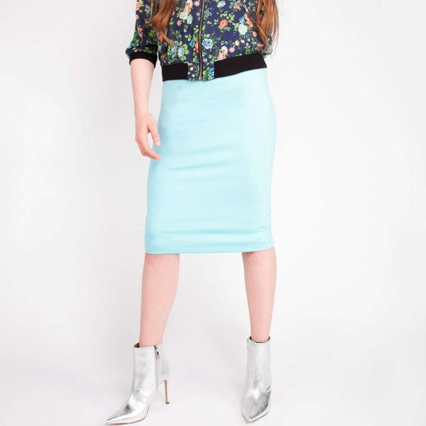 Perfect Pencil Skirt Mint Blue / 0 Itsallagift