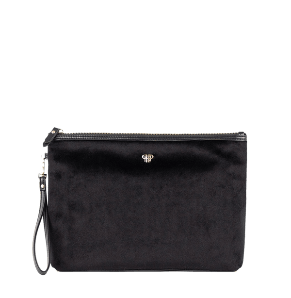 PurseN Getaway Large Velvet Makeup Bag - 3 Colors Available! Black Itsallagift