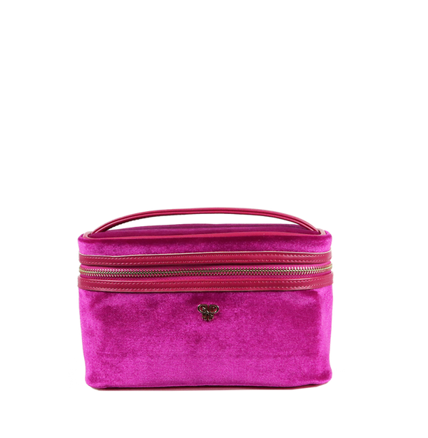 PurseN Getaway Velvet Train Case - 2 Colors Available! Fuchsia Itsallagift