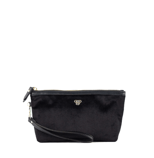 PurseN Getaway Velvet Wristlet Makeup Bag - 3 Colors Available! Black Itsallagift