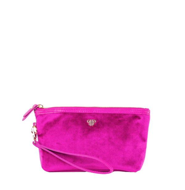 PurseN Getaway Velvet Wristlet Makeup Bag - 3 Colors Available! Fuchsia Itsallagift