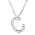 Small Initial Necklace With Micro Pave CZ Stones C Itsallagift