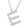 Small Initial Necklace With Micro Pave CZ Stones E Itsallagift