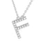 Small Initial Necklace With Micro Pave CZ Stones F Itsallagift