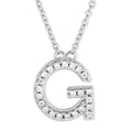 Small Initial Necklace With Micro Pave CZ Stones G Itsallagift
