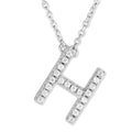 Small Initial Necklace With Micro Pave CZ Stones H Itsallagift
