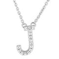 Small Initial Necklace With Micro Pave CZ Stones J Itsallagift
