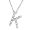 Small Initial Necklace With Micro Pave CZ Stones K Itsallagift