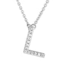 Small Initial Necklace With Micro Pave CZ Stones L Itsallagift