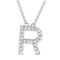 Small Initial Necklace With Micro Pave CZ Stones R Itsallagift