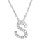 Small Initial Necklace With Micro Pave CZ Stones S Itsallagift