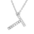 Small Initial Necklace With Micro Pave CZ Stones T Itsallagift