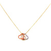 Tri Colored Open Heart Necklace Itsallagift