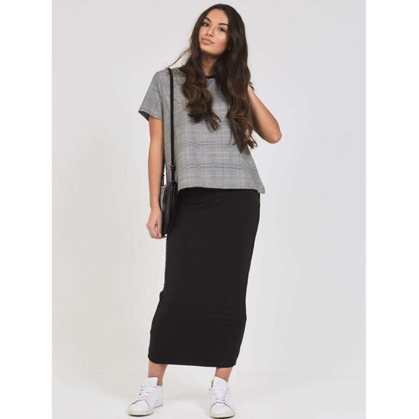 Long Midi Tube Skirt Basic Colors Black / XS Itsallagift