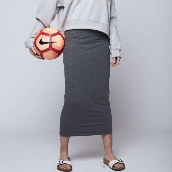 Long Midi Tube Skirt Basic Colors Heather Gray / XS Itsallagift