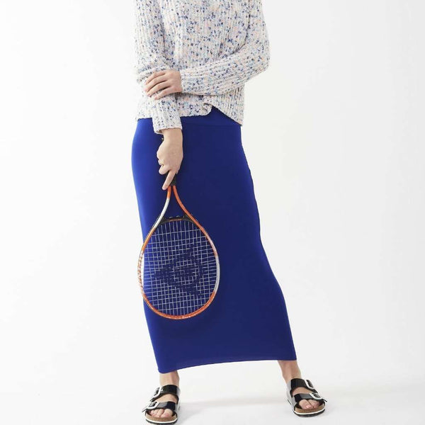 Long Midi Tube Skirt Seasonal Colors Royal Blue / Small Itsallagift
