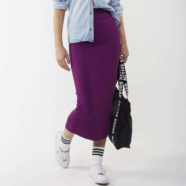 Long Midi Tube Skirt Seasonal Colors Purple / Small Itsallagift