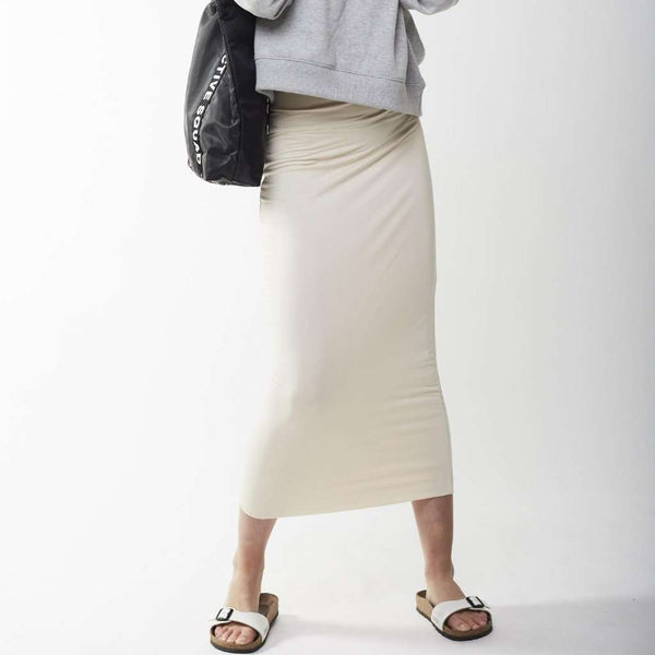 Long Midi Tube Skirt Seasonal Colors Ivory / Small Itsallagift