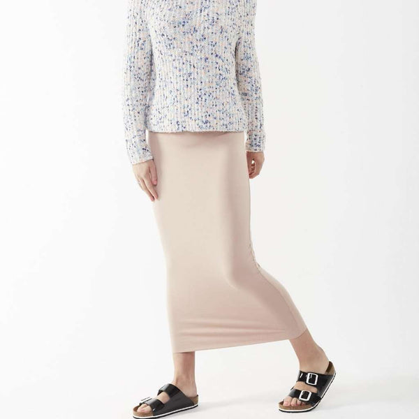 Long Midi Tube Skirt Seasonal Colors Light Peach / Small Itsallagift