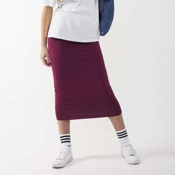 Long Midi Tube Skirt Seasonal Colors Magenta / Small Itsallagift