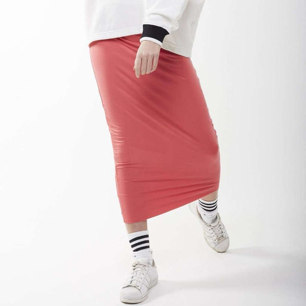 Long Midi Tube Skirt Seasonal Colors Coral / Small Itsallagift