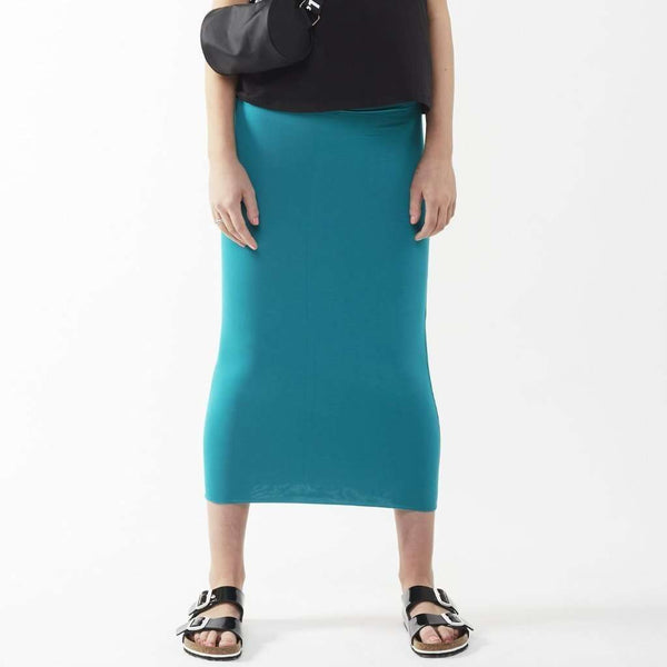 Long Midi Tube Skirt Seasonal Colors Turquoise / Small Itsallagift
